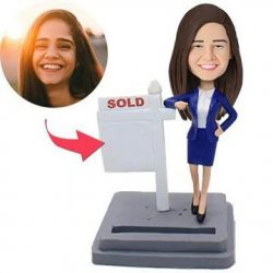 Female Realtor Custom Bobblehead