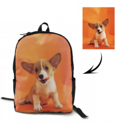 personalized photo school backpack for kids