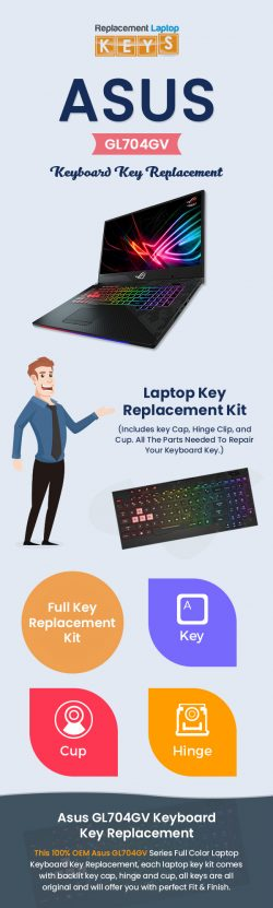 Buy Genuine Asus GL704GV Keyboard Keys from Replacement Laptop Keys Online