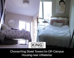 Choose King Street Towers for Off-Campus Housing near UWaterloo