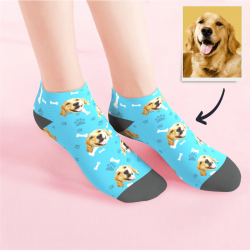 Custom Low cut Ankle Socks Dog