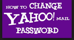 How to Change My Yahoo Mail Account Password?