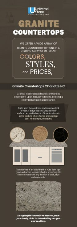 Enhance the Look of your Kitchen with Granite Countertops in Charlotte NC from Universal Stone
