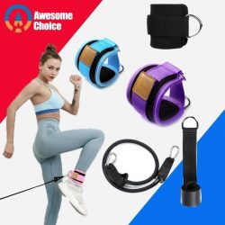 Resistance Bands With Ankle Straps Cuff With Cable For Attachment Booty Butt Thigh Leg Pulley St ...