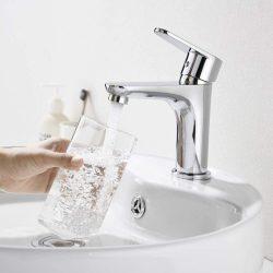 Surface Chromé avec Mitigeur Lavabo Salle de bain robinet en laiton pur H59