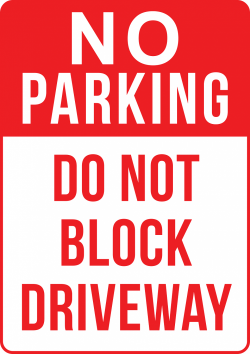 Reserved Park Signs