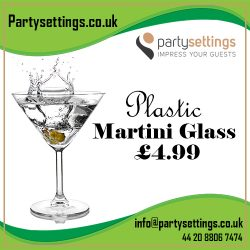Party Settings – Plastic Martini Glass