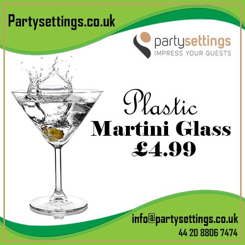 Party Settings – Plastic Martini Glass