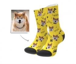 Custom Woof Dog Socks