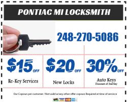 Locksmith Pontiac MI