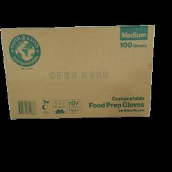 Earth2Earth Compostable Food Prep Gloves / 100 Gloves