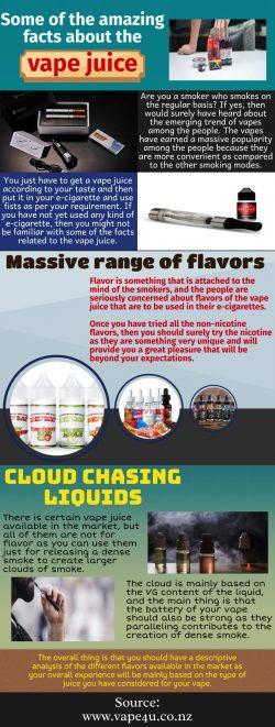 Various ingredients used in making vape juice