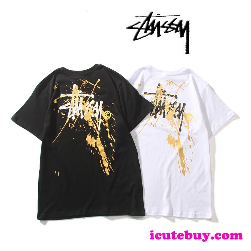 美品 ステューシー Tシャツ STUSSY 半袖シャツ オーバーサイズ 落書き トップス メンズ レディース ユ ...