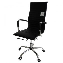 Eames Style High Back Ribbed Executive Computer Office Chair Black – Buy @ £89.99