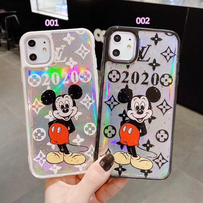 ヴィトン iPhone11pro/11 透明ケース 個性 モノグラム ミッキー柄 ルイヴィトン アイフォン11pro max/x ...