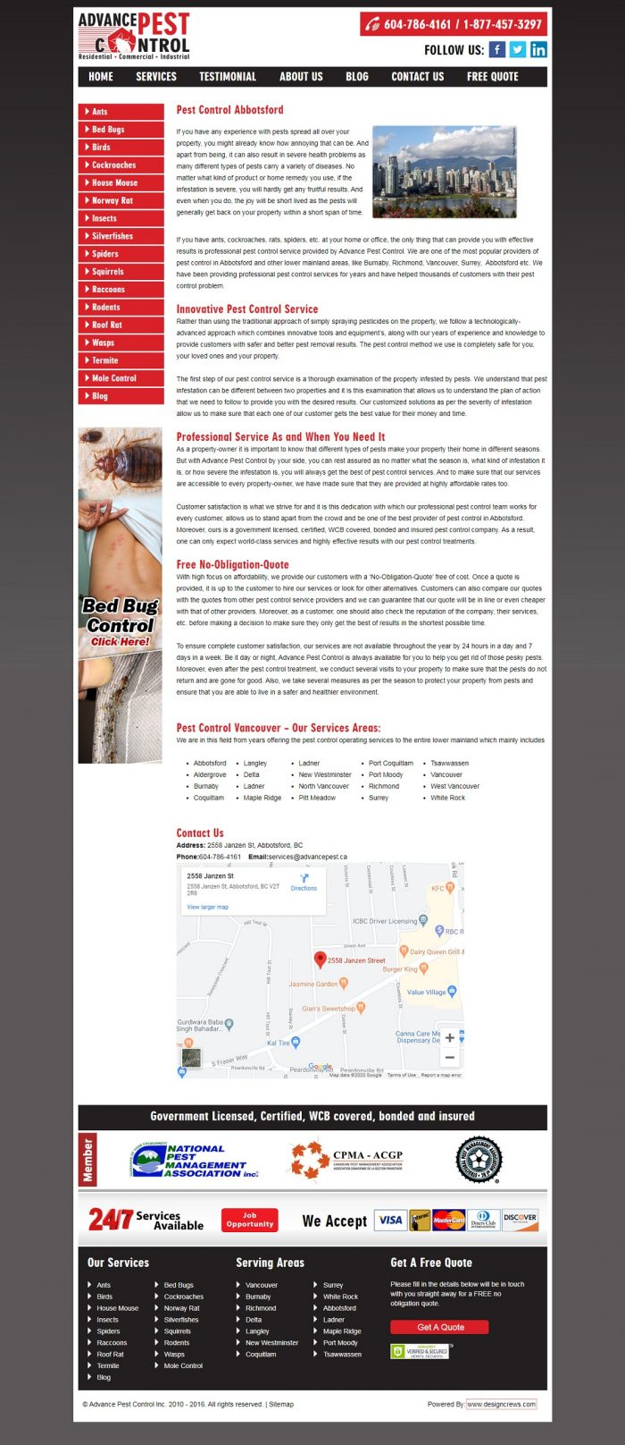 Bed bug control abbotsford