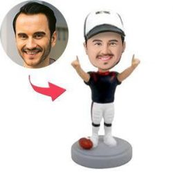 Football Player Winning Pose Custom Bobblehead