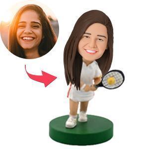 Female Tennis Player Custom Bobblehead