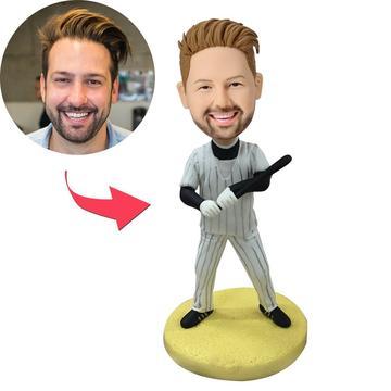 Baseball Batsman With Baseball Bat Custom