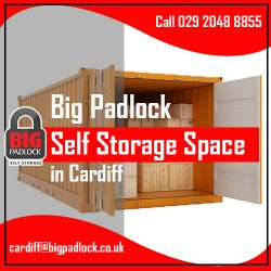 Big Padlock Self Storage Space in Cardiff