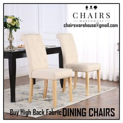 Buy High Back Fabric Dining Chairs