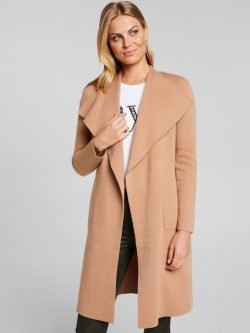 Cara Longline Waterfall Coatigan Camel – Portmans Online