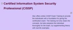 CISSP EXAM TRAINING