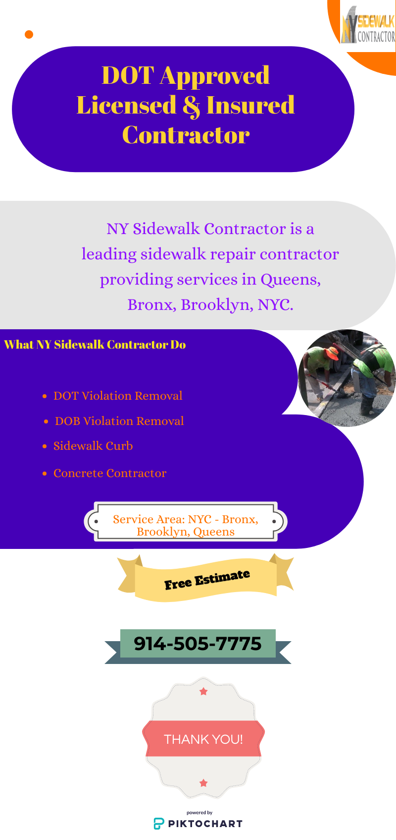 Infographic NY Sidewalk Contractor