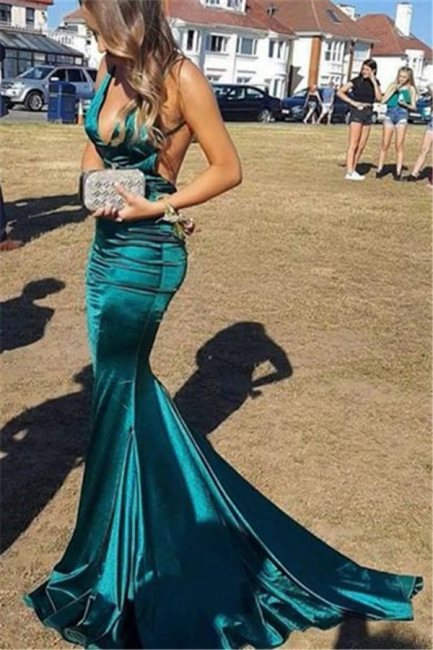 Elegante Abiballkleider Grün   Abendkleid Lang Günstig Online