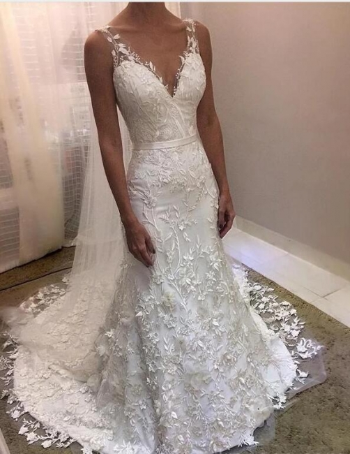 Fashion Brautkleider Mit Spitze | Hochzeitskleider Rückenfrei Online