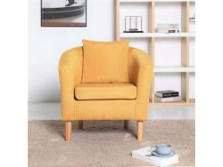 Buy York Fabric Tub Chair Armchair Yellow @ £89.99