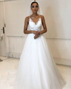 Designer Hochzeitskleider Weiß | Brautkleider Mit Spitze Online