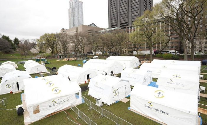 Field Hospital Staffers Provide Around-the-Clock Care in New York's Central Park   SamaritanR ...