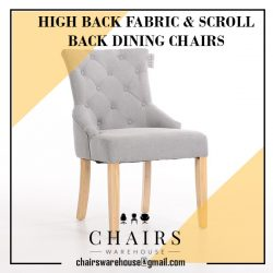 High Back Fabric & Scroll Back Dining Chairs At Chairs Warehouse