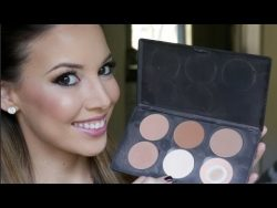 How to : Highlight and Contour with Powder – YouTube