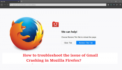 How to troubleshoot the issue of Gmail Crashing in Mozilla Firefox?