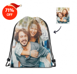 galaxy personalized photo backpack