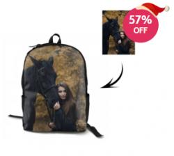 custom couples photo backpack