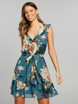 Lets Dance Soft Dress Teal Floral – Portmans Online