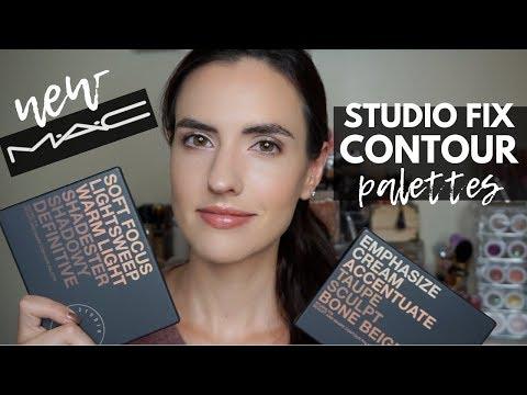 MAC Studio Fix Sculpt + Shape Contour Palette   Demo + Swatches of Both Palettes – YouTube