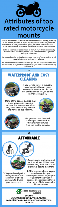 Choose the most suitable motorcycle mount