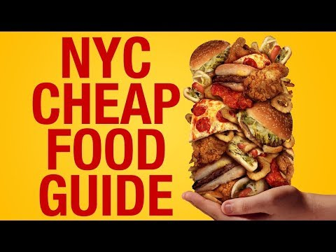 NYC CHEAP Food Guide- 13 AFFORDABLE Places That Taste GOOD in New York City ! – YouTube