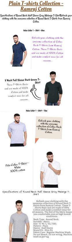 Polo Collar T-Shirt- Blue — Ramraj Cotton