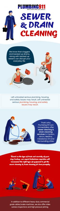 Contact Plumbing 911 for Professional Sewer & Drain Cleaning Services