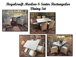 Royalcraft Marlow 6 Seater Rectangular Dining Set