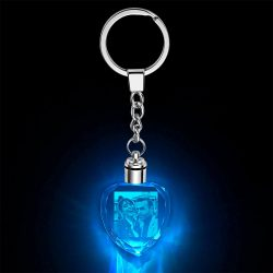 Father's Day Gifts Custom Crystal Rectangle Shape Photo Key Chain