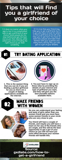 Learn certain tipss to find a girlfriendd