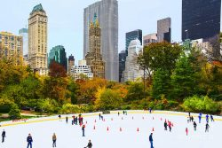 Wollman Rink NYC in Autumn