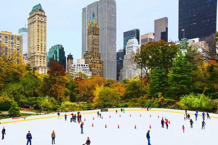 Wollman Rink NYC in Autumn