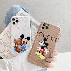 ルイヴィトン ミッキー コラボ iPhone 11Proケース かわいい 人気 LV mickey iphone11Pro Max/SEカバー